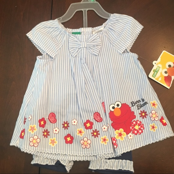 Sesame Street Elmo Baby Tunic and Short Set 07f9e1f44